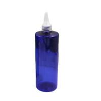bouteille en plastique marron achat en gros de-500 ml marron clair vert vide rondes bouteilles en plastique avec bouche pointue top cap, 500 ml FDA bricolage PET bouteilles de nourriture conteneurs avec bouchon à vis
