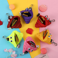 Wholesale small storage pouches resale online - 14Styles Zipper Coins Bag coin purse cute wallet Bags Portable zipper Wallet Keys Storage Bag party kids small pouch FFA1808
