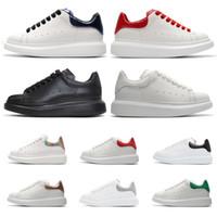 tops de couro branco venda por atacado-Sapatos de grife de couro de moda de luxo tênis para mulheres dos homens top qualidade 3 M branco reflexivo Sapatos de plataforma de altura crescente caminhada de jogging