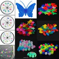 Bicycle Bike Light Wheel Plastic Spoke Bead Children Kids Clip Colored Decoration Beautiful Practical Bike Spoke Accessories P60