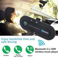 ingrosso vivavoce vivavoce auto bluetooth-Sun Visor Altoparlante Bluetooth Lettore musicale MP3 Trasmettitore Bluetooth senza fili Vivavoce Car Kit Ricevitore Bluetooth Altoparlante Caricatore da auto