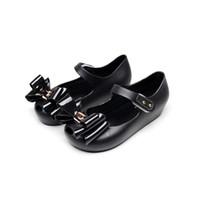 pieds fille sandales achat en gros de-2-6 Ans Enfants Gelée Pied À L'intérieur Longueur D'été Mode Papillon Noeud papillon Filles Sandales Tête De Poisson Doux Étudiant PVC Enfants Chaussures