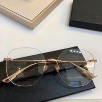 gafas de montura de titanio sin aro al por mayor-2019NEW D06 Gafas conciselightweight oro sin titanio puro sin montura big frame 56-16 unisex tamaños de lentes ajustables ópticas gafas graduadas