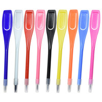 kurşun kalem eko toptan satış-Golf Puanlama Kalem Plastik Basit Ve Kolay Eko Dostu Kalem Siyah Mor Beyaz Ev Moda Egzersiz Ürünleri 0 15jjD1