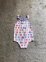 kostenloses babybad großhandel-Freies Verschiffen Kleinkind scherzt nette Badebekleidungsbikinis 2019 Rüschen einteiliges Badeanzugkostümbadeanzüge Sport Baby Mädchen