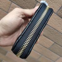 bozuk para çantası toptan satış-plastik toz torbası bayan parti hediye lüks kese ile 2019 Yeni ~ Moda C PU Deri Mini Cüzdan klasik kart sahibi Para saklama torbası VIP hediye