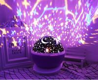 lámpara de mesa de noche de batería led al por mayor-RGB LED de la lámpara de proyección del unicornio de la batería del USB 5V noche potencia de luz bebé de los niños regalo lámpara de mesita de noche dormitorio de la luz para dormir