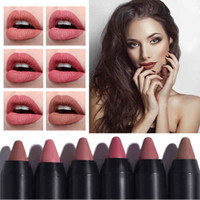 Wholesale lip tint lipstick for sale - Group buy langmanni Maquiage color matte lipstick Waterproof Nude Velvet lipstick sexy Beauty Long lasting batom Red Lips tint Cosmetic