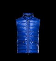 novos tecidos moda moda venda por atacado-Coletes dos homens novos Clássicos Da Marca Dos Homens de Inverno Quente Para Baixo Colete De Penas Vestido Jaquetas Dos Homens Ao Ar Livre À Prova D 'Água Para Baixo Colete Colete