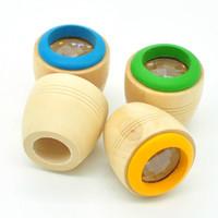 juguete de madera de abeja al por mayor-Niños Mágico efecto de ojo de abeja Caleidoscopio Juguete de madera Observación de múltiples prismas Mundo colorido Juguetes de madera D