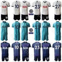 camisolas de futebol venda por atacado-Hot Spur Futebol 27 Lucas Moura Jersey Set 11 Erik Lamela 10 Harry Kane 20 Dele Alli 7 Son Heung-Min Futebol shirt Kits