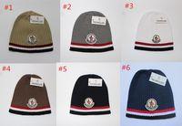 Wholesale styles crochet hats resale online - Brand MON Winter Beanies Unisex Knitted Hats Fashion Skull Caps Men Women Crochet Hat Gorros Outdoor Warm Hot Style Cap Hats Comfort Hat