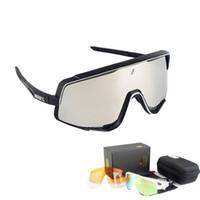 ingrosso pone occhiali-Occhiali da sole polarizzati da ciclismo Uomo MTB Bicicletta da equitazione Occhiali da sole sportivi Ciclismo Occhiali da sole 3 lenti Occhiali da ciclismo