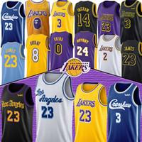 çocuklar 14 toptan satış-23 James NCAA Anthony 3 Davis'in formaları Kobe 8 24 Bryant Kyle 0 Kuzma Lonzo 2 top Brandon 14 Ingram erkek çocuk LeBron