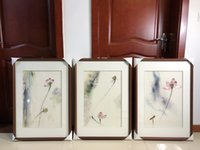Wholesale including embroidery resale online - Handmade Gift Mulberry Silk Thread Finished Su Embroidery Home Decor Painting Lotus not include frame cm