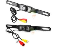 Wholesale rear view camera ir led resale online - 2019 New Waterproof Long License Plate Frame Color CMOS Car Rear View Camera For Reverse Parking camera With LED IR Night Vison