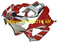 honda cbr 929 обтекатель красный оптовых-Высококачественная литьевая форма Комплект обтекателя для Honda CBR900RR 929 00 01 CBR 900RR CBR900 2000 2001 Ярко-красный белый обтекатель + подарки HZ35
