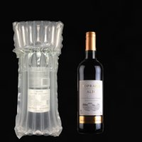 amortiguador de polvo al por mayor-Columna de aire Buffer Burbuja Botella de vino tinto Fruta Leche en polvo Protección de película en rollo Envase inflable Taza de melón Regalo Correo
