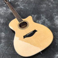 Wholesale acoustic guitar bone nut for sale - Group buy In Stock quot Acoustic guitar with Cutaway Solid Spruce top Sapele back sides Gloss Finish Bone Nut