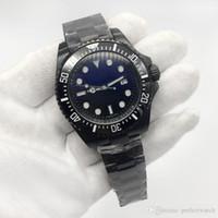 морские спортивные автоматические часы оптовых-Классический ободок DEEP серии 116660 44MM циферблат керамический ободок ремешок автоматическое движение спортивные часы морской обитатель часы бесплатная доставка