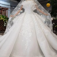 Wholesale shells training resale online - 2019 Latest Bohemian Wedding Dresses Long Lace Veil Shell Chest Short Sleeve Backless Lace Up Back Overskirts D Pattern Bridal Gowns