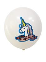 lumières de douche de bébé achat en gros de-Ballons de Licorne 100Pack / lot 12 pouces Ballons de Latex Rose Violet clair pour les Fournitures de Fête Graduation Mariage Baby Shower Licorne Anniversaire
