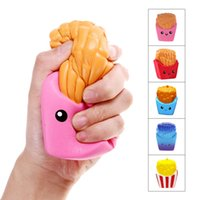 Wholesale popular novelty toys for sale - Group buy Squishy French Fries Fun Antistress Squishe Stress Relief Toys Novelty Gag Toy Fun Anti stress Popular Funny Gags Practical Joke