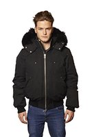 Wholesale fox bomber hats for sale - Group buy DHL Free real picture show Men s Classic Black ballistic bomber Jacket with hooed Fox fur Collar Outdoor Winter Down Coat