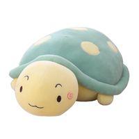 felpa de san valentín al por mayor-50cm Cute Tortoise Plush Toys Super Soft Turtle Doll Cute Turtle Plush Pillow Sofa Back Cushion Holiday Xmas Valentine's Gifts, Azul / Rosa