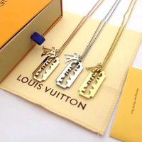 Wholesale razor blade necklaces resale online - designer Stainless Steel Razor Blades Pendant l v Necklace Men Luxury Jewelry Cool Steel Women Shaver Shape Necklaces Louis
