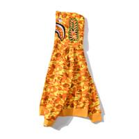pullover teenager großhandel-Großhandel Liebhaber orange Camouflagedruck beiläufige Strickjacke Pullover Teenager Personality Cardigan Voll Zipper Hoodies Kostenloser Versand