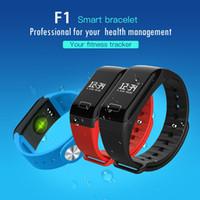 ingrosso braccialetto del polso del gps-Monitoraggio della frequenza cardiaca F1 Wrist Screen Fitness Tracker Wristband Monitoraggio della pressione sanguigna F1 Plus Smart Bracciale Sleep Monitor chiamata Orologio da uomo