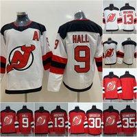2019 Season New Jersey Devils Jersey 9 Taylor Hall 13 Nico Hischier 30  Martin Brodeur 35 Cory Schneider Red White Hockey Jerseys 1a38c066f