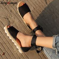 keilsandalen größe 42 großhandel-gladiator sandals frauen plattform keil sandalen sommer schuhe frauen peep toe schnüren große größe 41 42 43