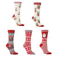 niñas medias de dibujos animados al por mayor-Regalos de la historieta de los calcetines del árbol de navidad del copo de nieve Oso Calcetines Medias mujeres de las muchachas medias de Navidad Decoraciones de Navidad LJJA3400-13