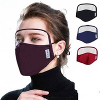 Wholesale 2 in Face Mask Eyes Shield All Around Protection Cotton Masks Eye Facial Integrated Protective Shield Mouth Mask New Design