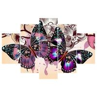 ingrosso punto croce farfalla-5pcs 5d diy diamante ricamo farfalla pittura diamante punto croce pieno trapano strass multi-immagine regalo