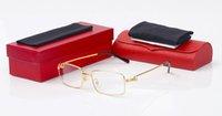 retro style eyeglasses al por mayor-Moda Clásico Estilo Retro Gafas para Hombres Mujeres Famoso Diseñador Lente Clara Gafas de Metal Enmarcadas Aleación Squar Oculus Gafas de Sol