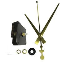 agulha de relógio de quartzo venda por atacado-Arte Artesanato Relógio De Parede Movimento Chegam Novas Silêncio Qualidade Relógio De Quartzo Mecanismo De Movimento Peças DIY Relógio Acessórios Agulha De Ouro