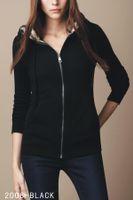 pull chandail achat en gros de-Luxe classique marque dames chandail à capuchon manteau mode coton plaid chaud veste coupe-vent veste de haute qualité pour femmes