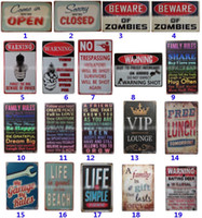 barlar dekorasyonu toptan satış-255 Stil Metal Boyama Kalay Işaretleri Koleksiyonu Duvar Sanatı RetroTIN BURCU Duvar Boyama Sanatı Bar Mağara Pub Restoran Ev Dekorasyon HH7-1966