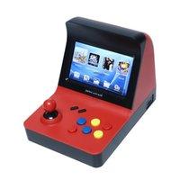 spielkonsole großhandel-Powkiddy A8 Retro Arcade-Konsole Spiel-Konsole Gaming-Maschine Built-In 3000 Gamepad Steuerung von AV-Out 4.3 Zoll Scree