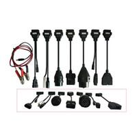 про автомобильный диагностический инструмент оптовых-2019 dapter кабели для автомобиля OBD2 OBDII автомобилей диагностический интерфейс инструмент полный комплект 8 автомобильные кабели для TCS CDP Pro плюс кабель