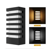 accesorios de iluminación usados al por mayor-Aluminio moderno COB 15W LED Lámparas de pared IP65 A prueba de agua Aplique de pared Porche Luz Interior Uso en exteriores Lámparas AC 85-265V Lámpara de pared