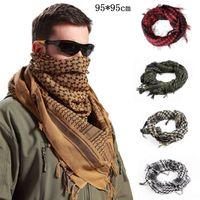 arabische kopfschals großhandel-Shemagh KeffIyeh Shemagh Muslim Schals Army Tactical Arab Scarf Schal Jagd Paintball Kopftuch Desert Bandanas MMA2416-2