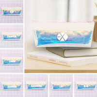 Wholesale fan laser for sale - Group buy EXO Laser Bag Pencil Cases Pencil Pouch XIUMIN LAY CHEN CHANYEOL Cosmetic Bag Students Fans Gift