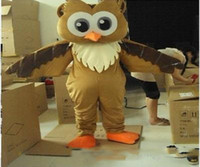 Wholesale owl fancy costume for sale - New Professional New Style Big Blue Owl Mascot Cartoon Costume Fancy Adult Size
