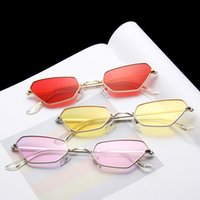 Wholesale jelly color sunglasses for sale - Group buy Fashion Trend Polygon Fashion Small Frame Sunglasses Jelly Ocean Slice Jelly Sunglasses