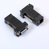 Wholesale vga extender adapter resale online - VGA Female to RJ45 Connector Video Extender Computer Laptop Accessories Desktop PC Parts