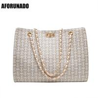Wholesale fashion handbags channel resale online - Luxury Handbags Women Bags Designer Canvas Knitting Shoulder Bags Fashion Ladies Channels HandBags Crossbody Bags For Women Y191014